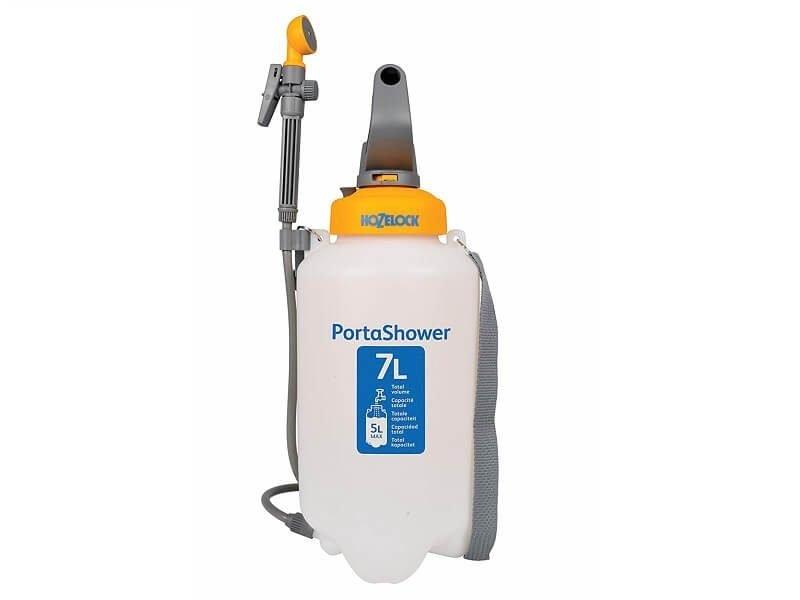 Ducha portátil a presión con depósito de 7 litros