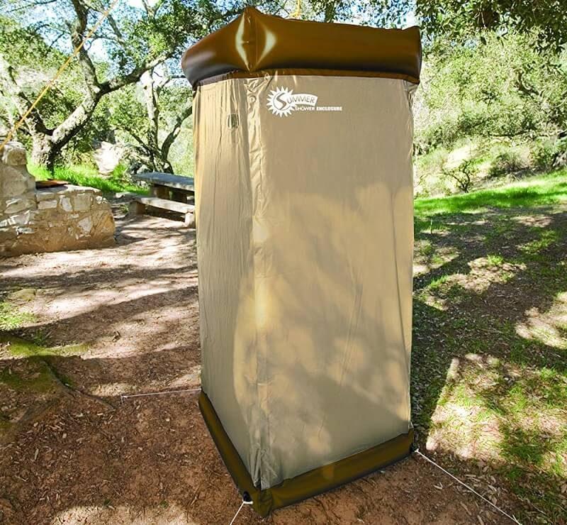 Ducha portátil para acampada
