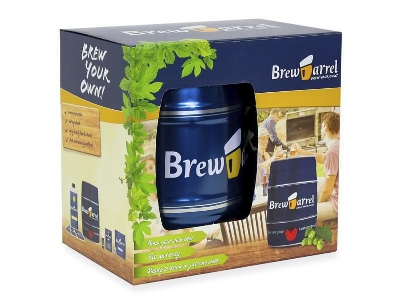 Kit de cervza artesanal BrewBarrel