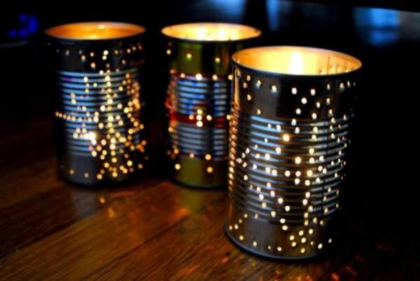 Lámparas con latas