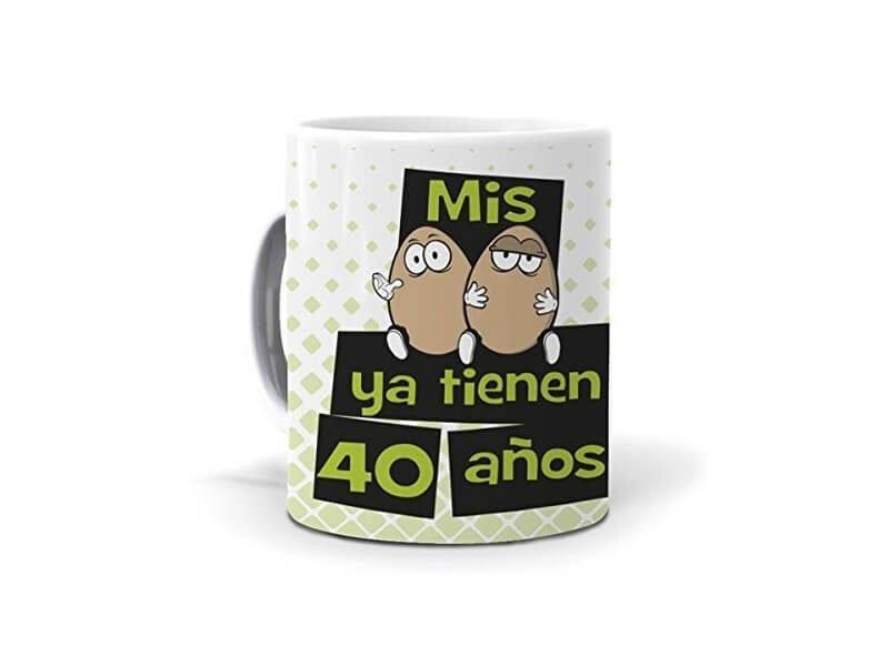 Taza Mis huevos ya tienen 40 años